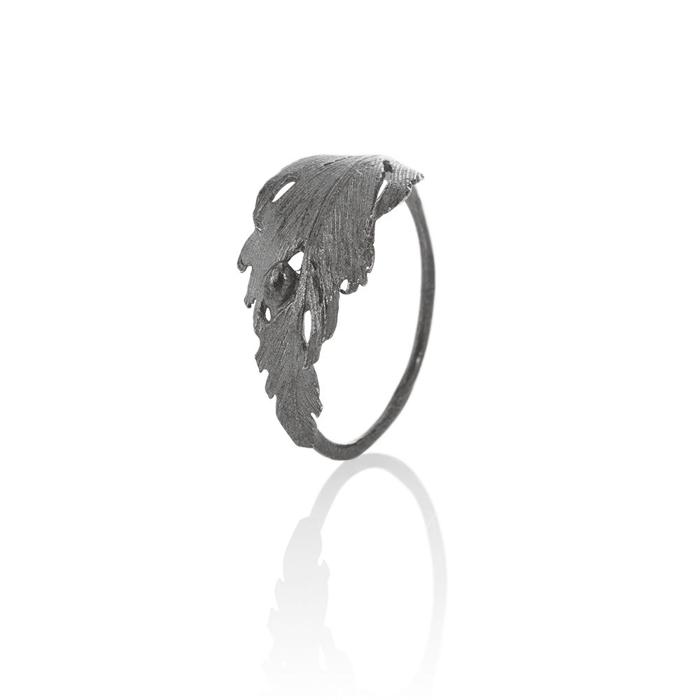 Icelandic sweaters and products - Aurum Falcon Oxidized Silver Ring (Falcon 402 OX) Jewelry - NordicStore