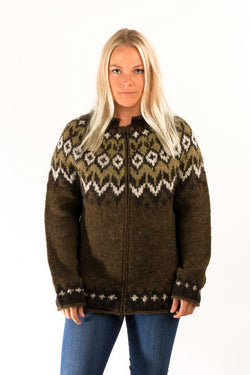 Icelandic sweaters and products - Fisherman Wool Cardigan Wool Sweaters - NordicStore