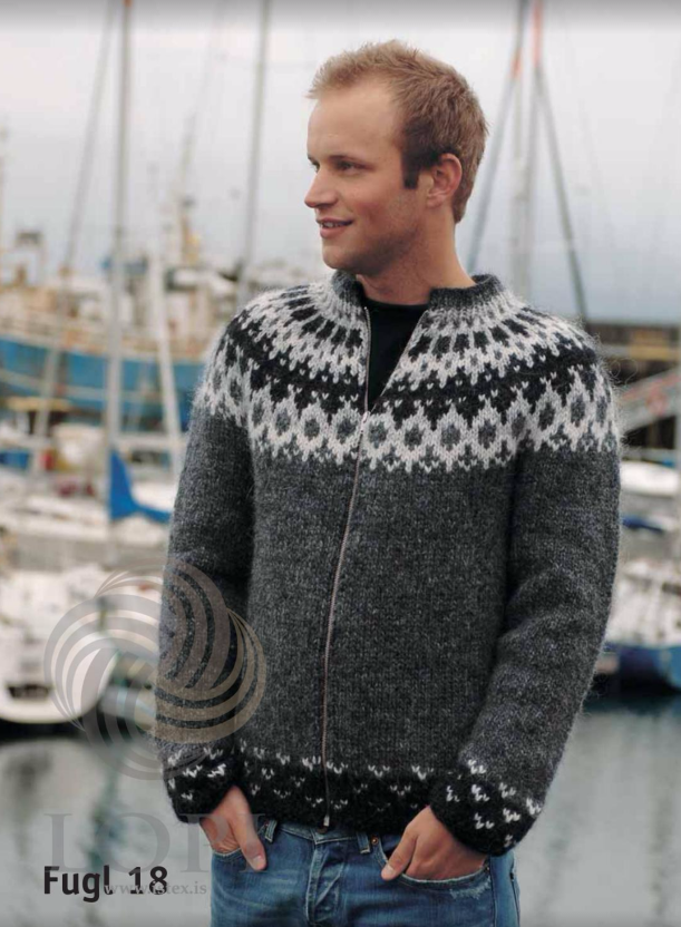 Icelandic sweaters and products - Fugl knitting kit Wool Knitting Kit - NordicStore