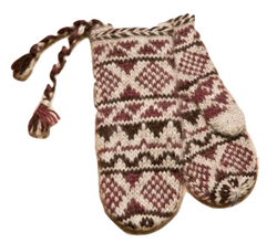 Goa Wool Mittens - Burgundy