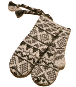 Goa Wool Mittens - Grey