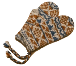 Goa Wool Mittens - Orange