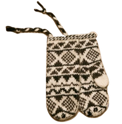Icelandic sweaters and products - Goa Wool Mittens - White Wool Accessories - NordicStore