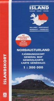 Icelandic sweaters and products - General Maps - North East Iceland - 1:300.000 Maps - NordicStore