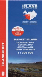 Icelandic sweaters and products - General Maps - South West Iceland - 1:300.000 Maps - NordicStore