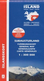 Icelandic sweaters and products - General Maps - South East Iceland - 1:300.000 Maps - NordicStore