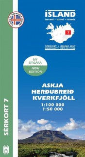 Icelandic sweaters and products - Hiking Map 7 - Askja, Herðubreið, Kverkfjöll - 1:100.000 Maps - NordicStore