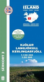 Icelandic sweaters and products - Hiking Map 3 - Kjölur, Langjökull, Kerlingarfj. - 1:100.000 Maps - NordicStore