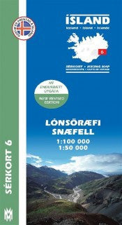 Icelandic sweaters and products - Hiking Map 6 - Lónsöræfi, Snæfell - 1:100.000 Maps - NordicStore