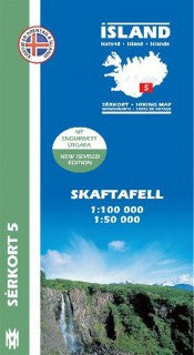 Icelandic sweaters and products - Hiking Map 5 - Skaftafell - 1:100.000 Maps - NordicStore