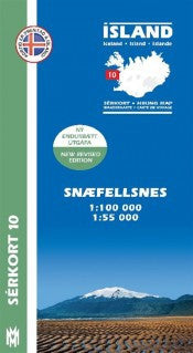 Icelandic sweaters and products - Hiking Map 10 - Snæfellsnes - 1:100.000 Maps - NordicStore