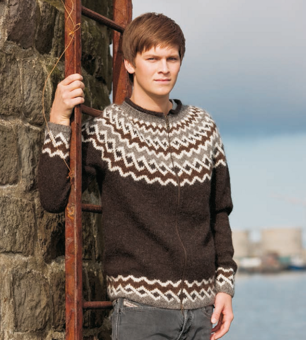 Icelandic sweaters and products - Hlekkur / Chain - Knitting Kit Wool Knitting Kit - NordicStore