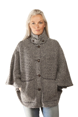 Icelandic sweaters and products - Magga Cape - Dark Blue Icelandic Design - NordicStore