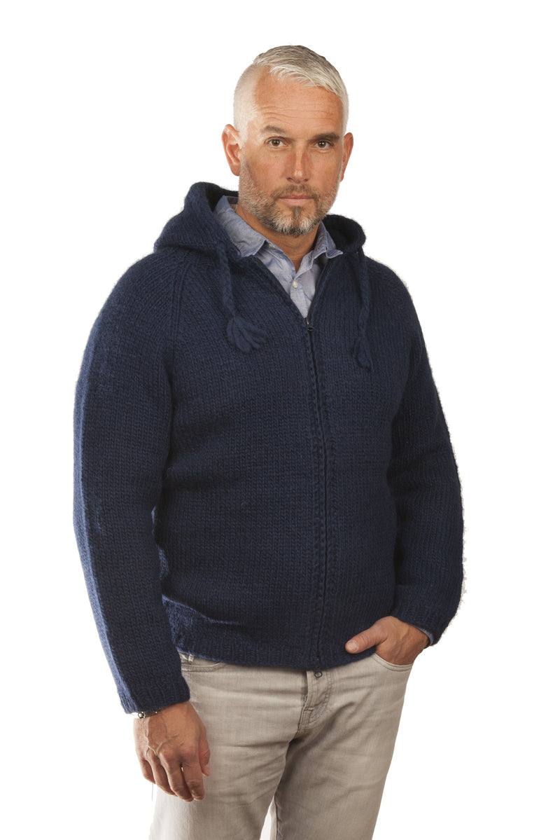 Icelandic sweaters and products - Freri Wool Cardigan Blue Wool Sweaters - NordicStore