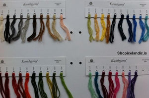 - Icelandic Kambgarn Color Samples Card - Sample Card - Nordic Store Icelandic Wool Sweaters