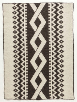 Icelandic sweaters and products - Lopi Wool Blanket - Dark Braid (0401) Wool Blanket - NordicStore