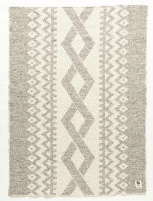 Icelandic sweaters and products - Lopi Wool Blanket - Grey Braid (0402) Wool Blanket - NordicStore