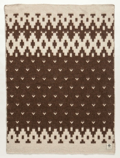 Icelandic sweaters and products - Lopi Wool Blanket - Brown Bird (0501) Wool Blanket - NordicStore