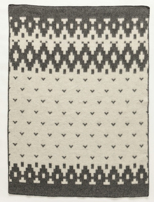 Icelandic sweaters and products - Lopi Wool Blanket - Grey Bird (0502) Wool Blanket - NordicStore