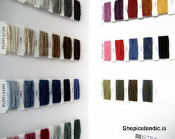 - Icelandic Plötulopi Color Samples Card - Sample Card - Nordic Store Icelandic Wool Sweaters