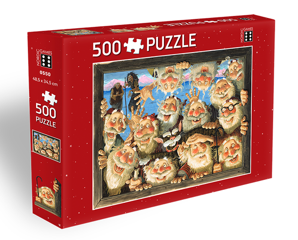 Icelandic sweaters and products - Yule Lads Window-Peepers - Jigsaw Puzzle (500pcs) Puzzle - NordicStore