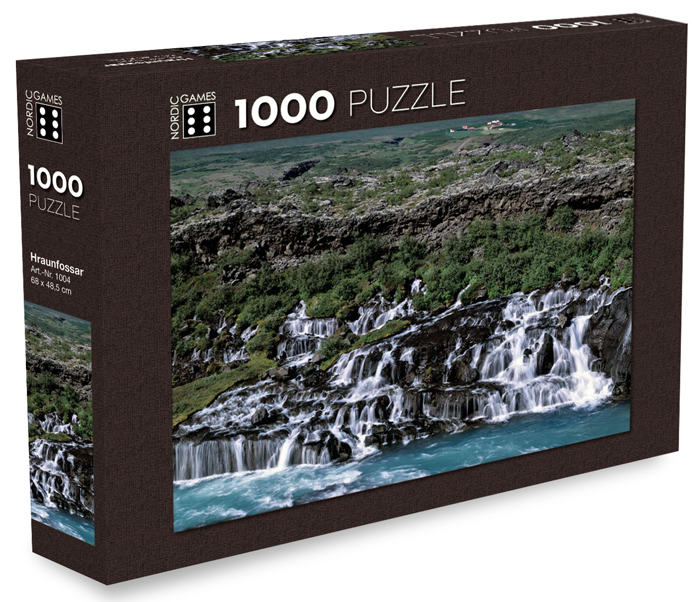 Icelandic sweaters and products - Hraunfossar Waterfalls - Jigsaw Puzzle (1000pcs) Puzzle - NordicStore