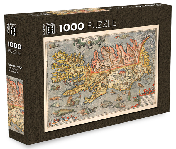 Icelandic sweaters and products - Islandia 1590 - Jigsaw Puzzle (1000pcs) Puzzle - NordicStore