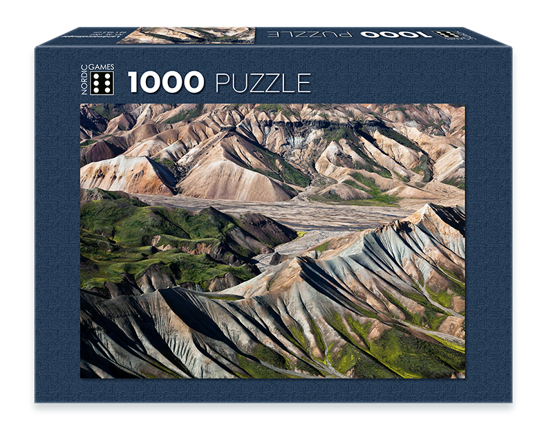 Icelandic sweaters and products - Landmannalaugar - Jigsaw Puzzle (1000pcs) Puzzle - NordicStore