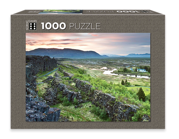 Icelandic sweaters and products - Þingvellir - Jigsaw Puzzle (1000pcs) Puzzle - NordicStore