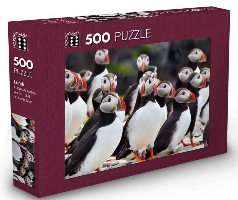 Icelandic sweaters and products - The Puffin - Jigsaw Puzzle (500pcs) Puzzle - NordicStore