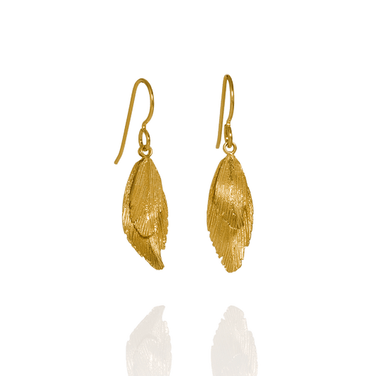 Raven Gold Plated Earrings (Raven 101 GP)