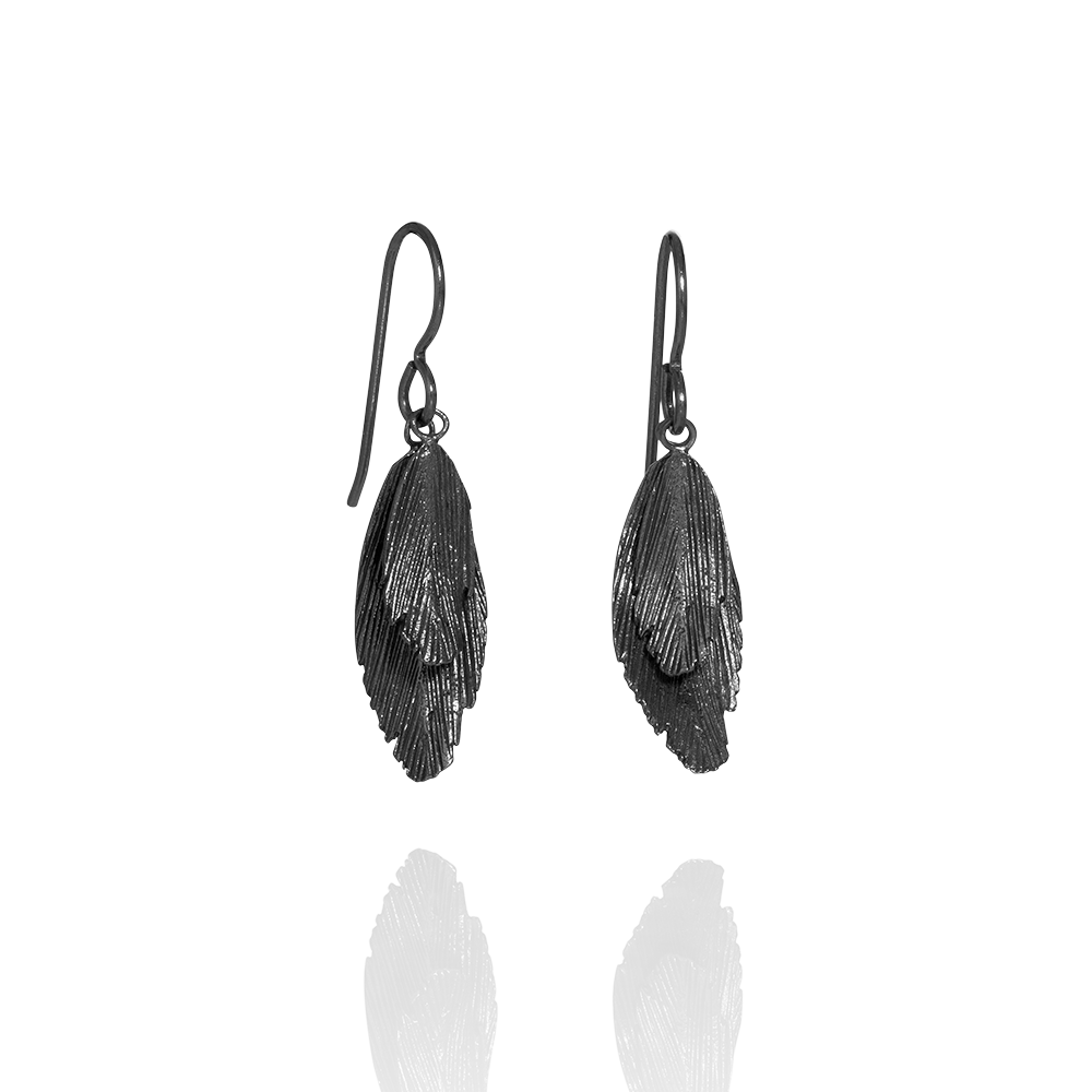 Icelandic sweaters and products - Raven Oxidized Silver Earrings (Raven 101 OX) Jewelry - NordicStore