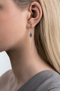 Icelandic sweaters and products - Raven Oxidized Silver Earrings (Raven 104K OX) Jewelry - NordicStore