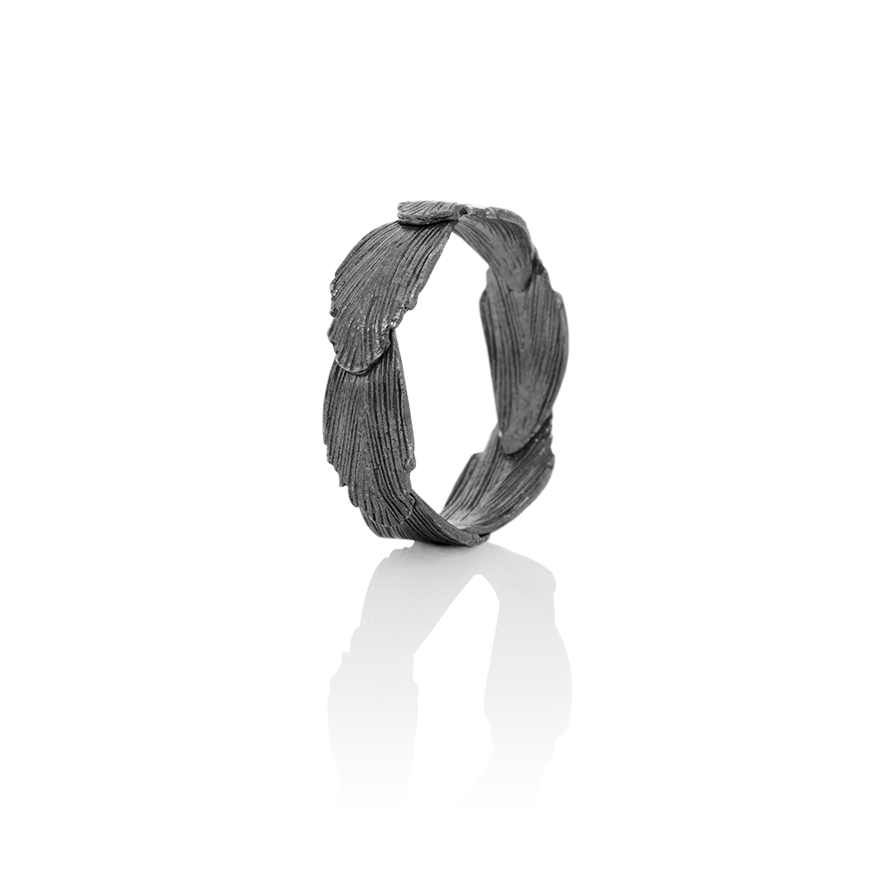 Icelandic sweaters and products - Raven Oxidized Silver Ring (Raven 402) Jewelry - NordicStore