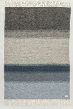 Icelandic sweaters and products - Shades Landscape Wool Blanket - Grey/Blue (1052) Wool Blanket - NordicStore