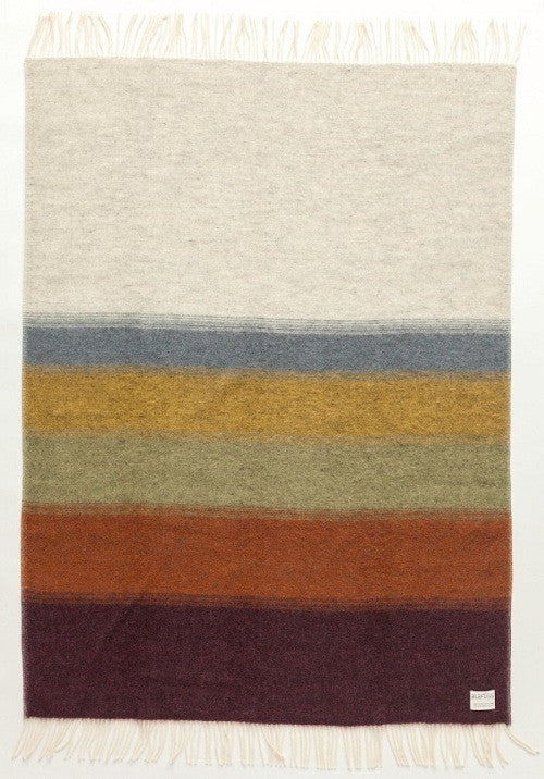 Icelandic sweaters and products - Shades Perspective Wool Blanket - Natural (1060) Wool Blanket - NordicStore
