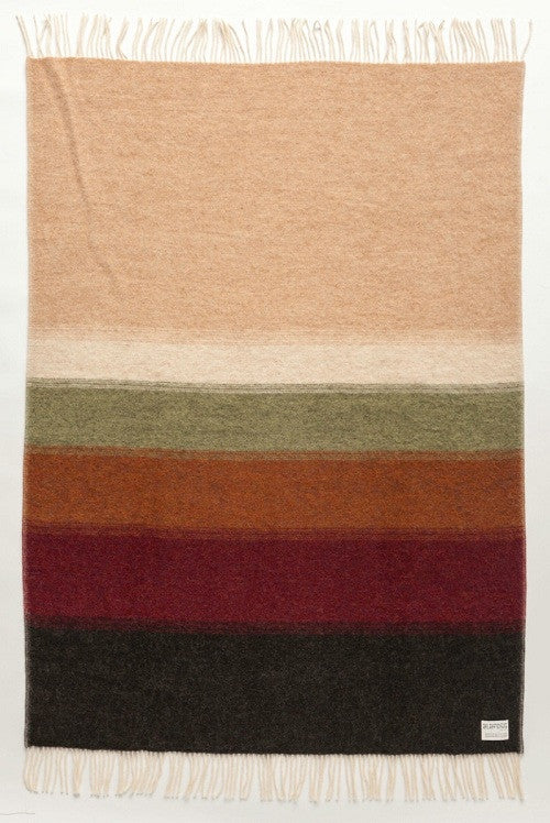 - Icelandic Shades Perspective Wool Blanket - Earth  (1061) - Wool Blanket - Nordic Store Icelandic Wool Sweaters  - 1