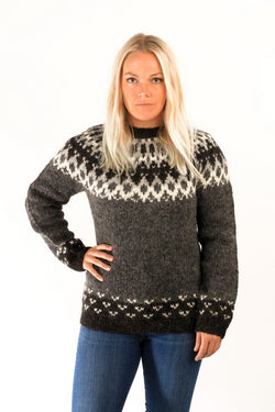 Icelandic sweaters and products - Skipper Wool Pullover Grey Wool Sweaters - NordicStore