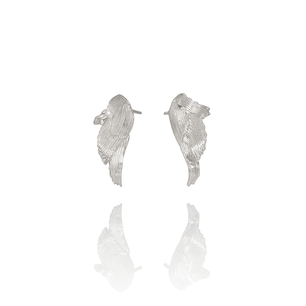 Icelandic sweaters and products - Aurum Swan Earrings Silver (Swan 101) Jewelry - NordicStore