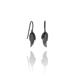 Icelandic sweaters and products - Aurum Swan Earring Silver Oxidized (Swan 113 OX) Jewelry - NordicStore