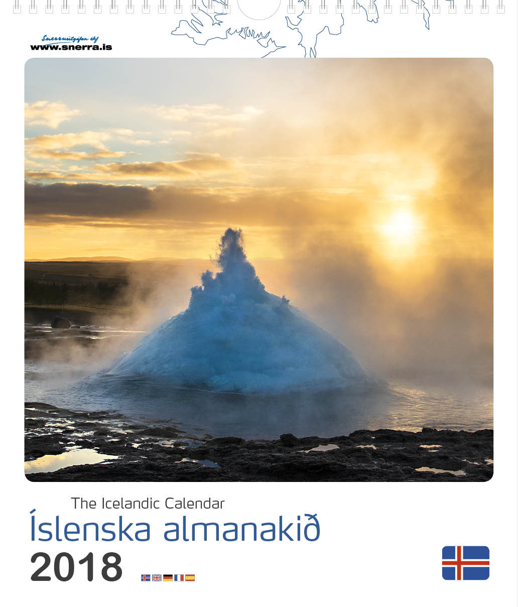 Icelandic sweaters and products - The Icelandic Calendar 2018 Calendar - NordicStore