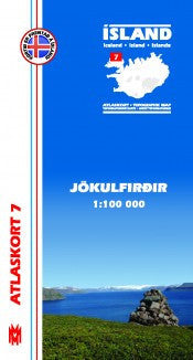 Icelandic sweaters and products - Topographic Map - Jökulfirðir Maps - NordicStore