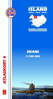 Icelandic sweaters and products - Topographic Map - Skagi Maps - NordicStore
