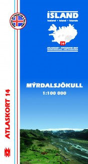 Icelandic sweaters and products - Topographic Map - Mýrdalsjökull Maps - NordicStore