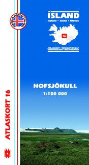 Icelandic sweaters and products - Topographic Map - Hofsjökull Maps - NordicStore