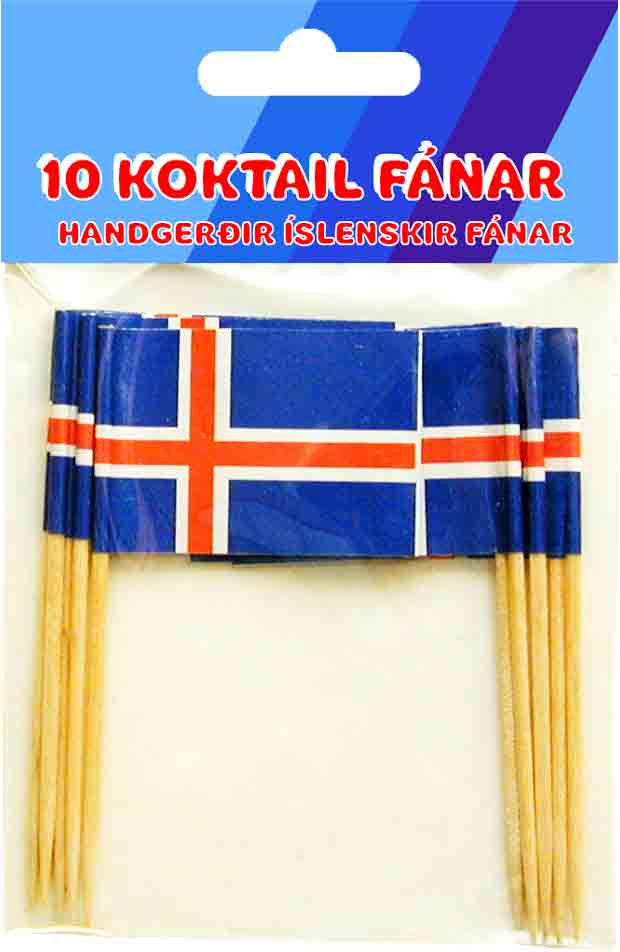 Icelandic sweaters and products - 10 Icelandic Cocktail Flags Fánavörur - NordicStore