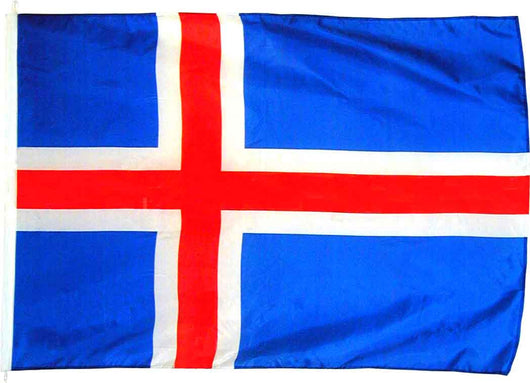 The Icelandic flag for flag-poles