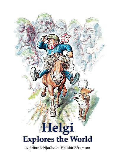 Icelandic sweaters and products - Helgi Explores the World Book - NordicStore