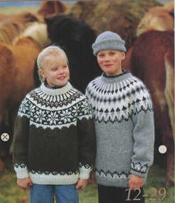 Icelandic sweaters and products - Icelandic Wool Sweater Pattern 12-29 Girl Pattern Book - NordicStore