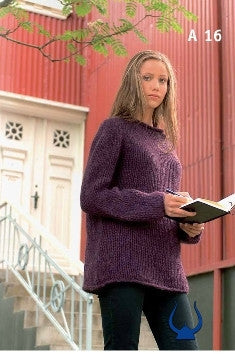Icelandic sweaters and products - Purple - knitting kit Wool Knitting Kit - NordicStore